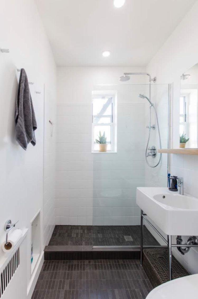 white oak shelf tiny bathrooms small bathroom on bathroom renovation ideas white id=49920