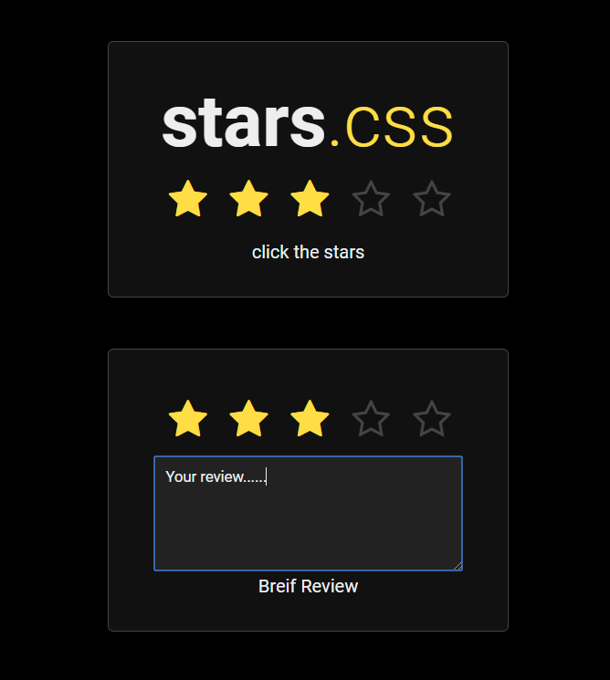 20 Five Star Rating Css And Javascript Examples Onaircode Javascript Examples Css Css Examples