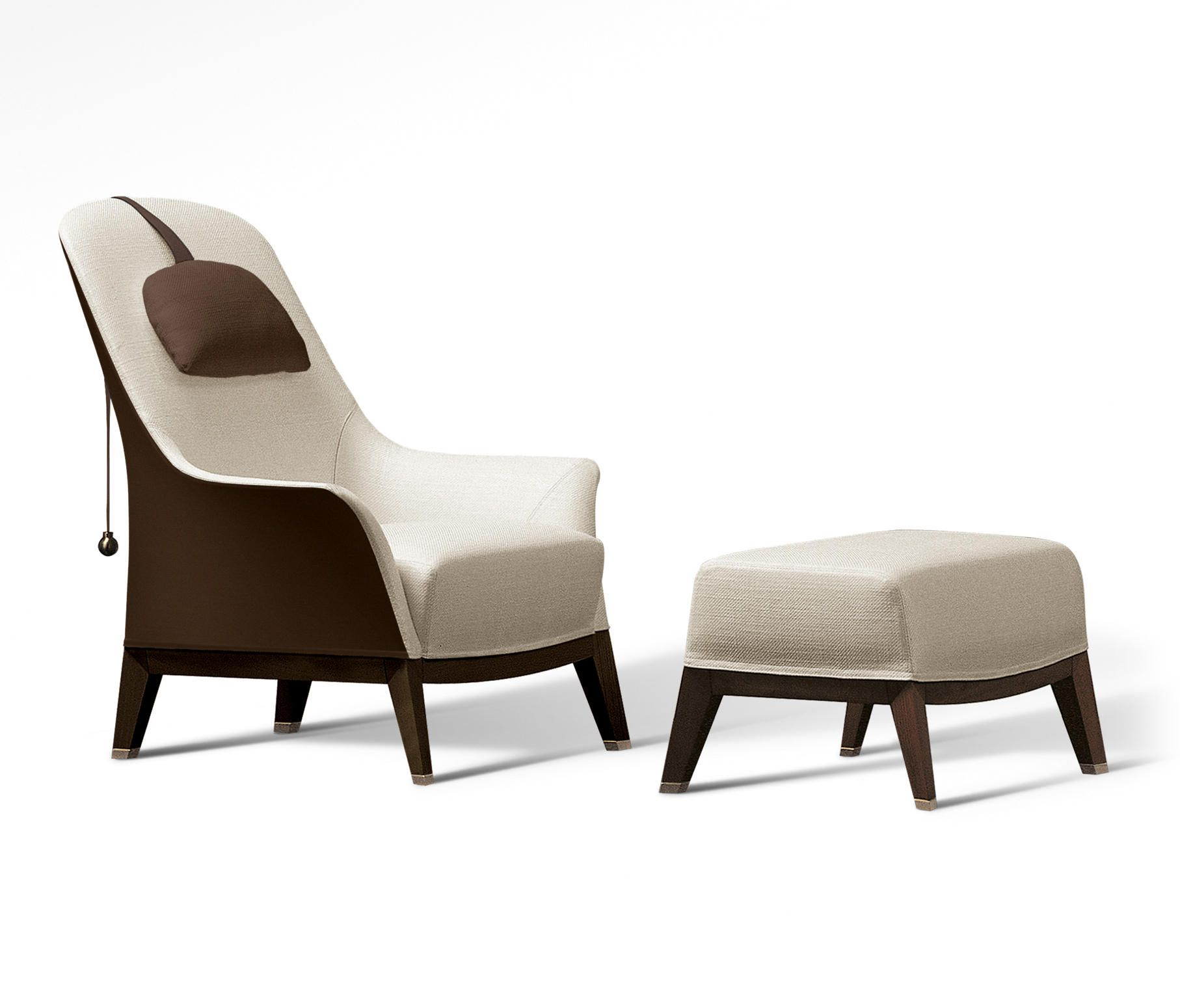 Sessel Giorgetti Normal Wing Chair With Footrest By Giorgetti Lounge Chairs