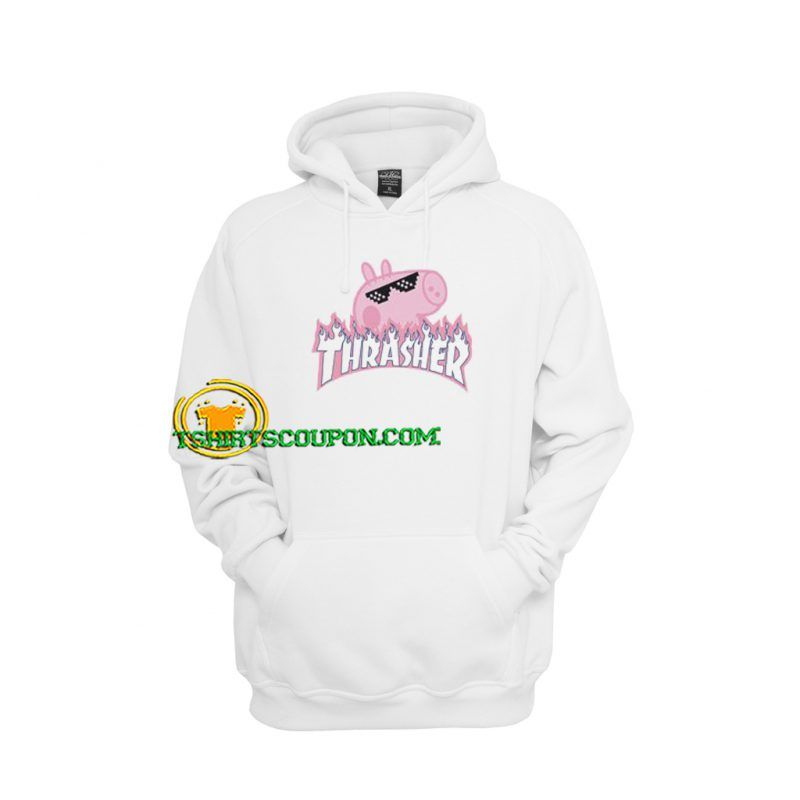 China Thrasher Gacci Peppa Pig Bootleg Hoodie by