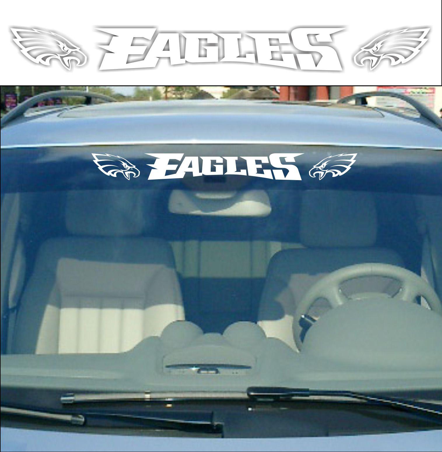 Philadelphia Eagles 24 Vinyl Car Truck Decal Window Sticker White Window Stickers Custom Vinyl Decal Truck Decals [ 1546 x 1515 Pixel ]