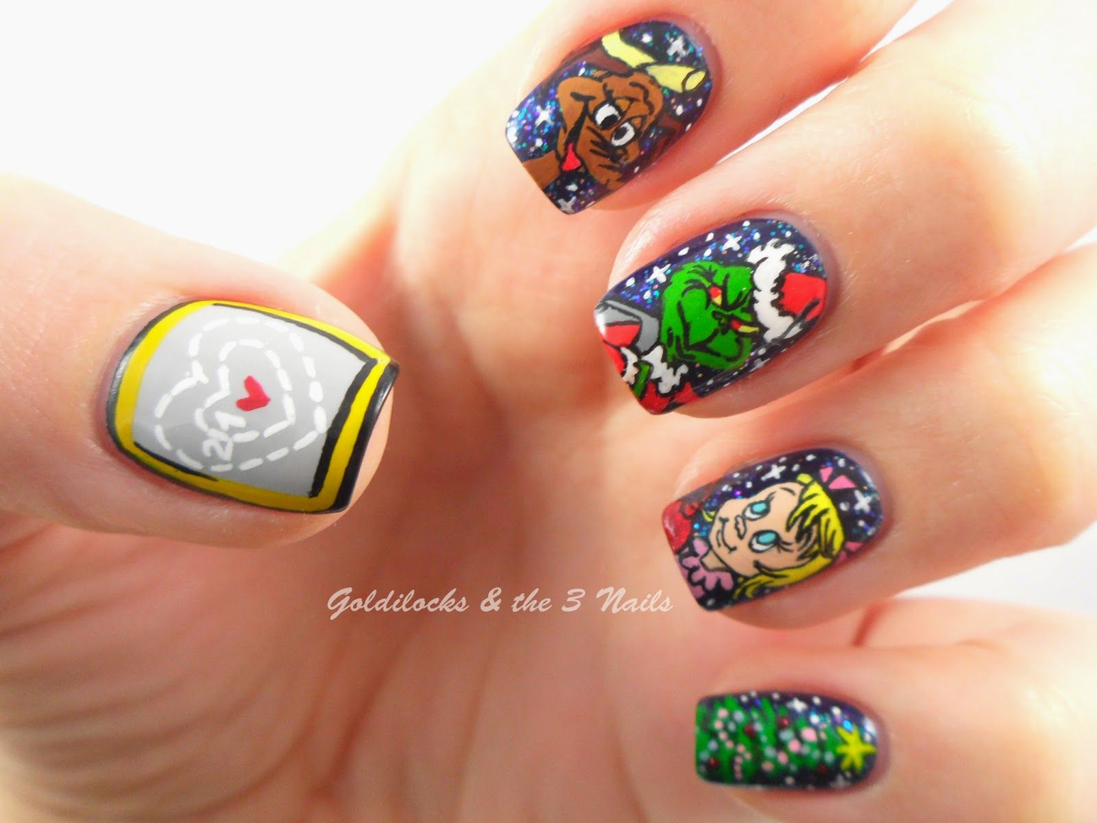 Grinch Nails | Goldilocks & the Three Nails: How the Grinch Stole ...