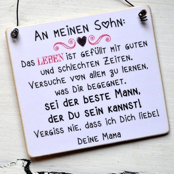 Wooden Sign An My Sohn Gedichte Fur Sohne Sohne Geburtstag Und