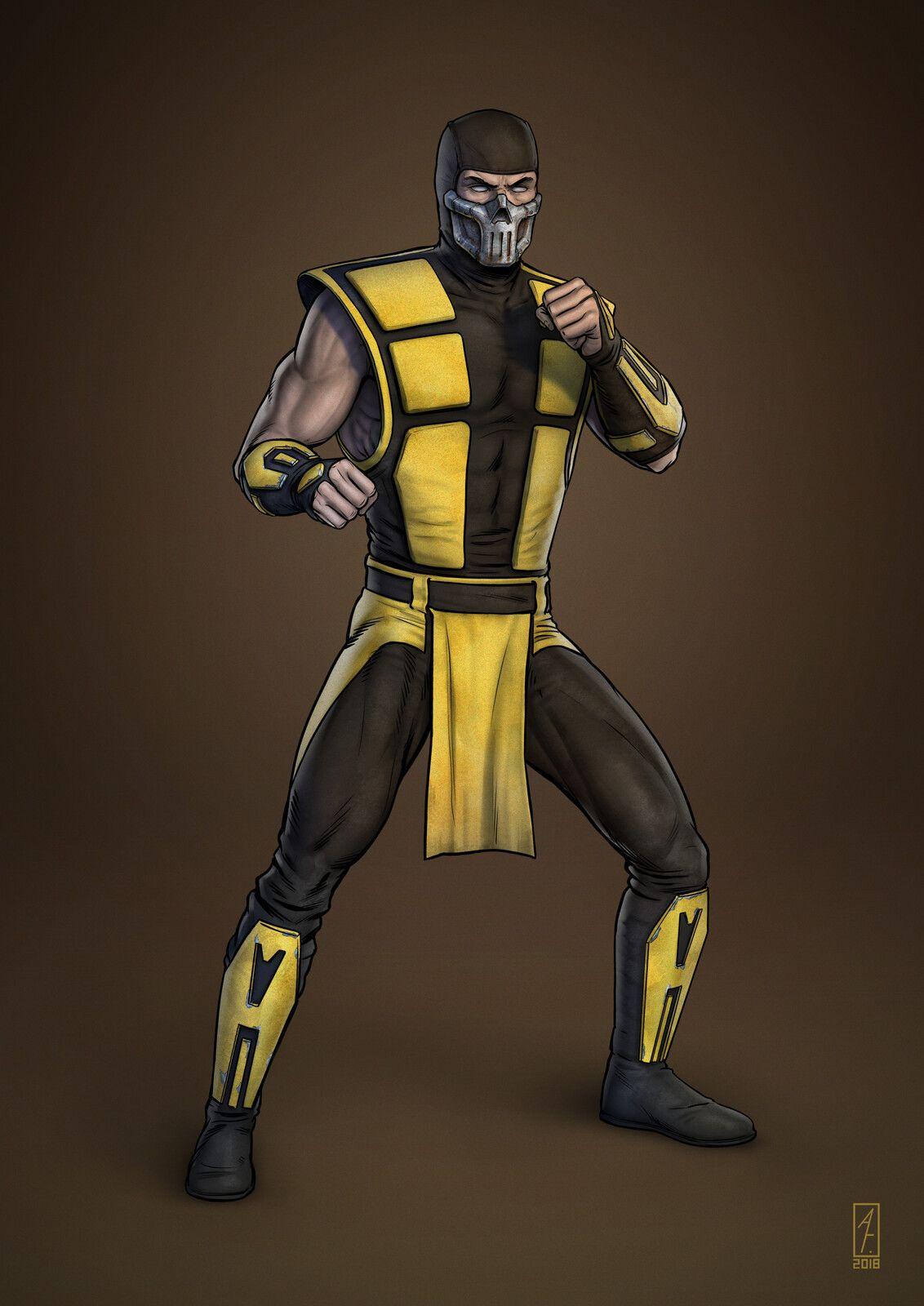 Scorpion Mortal Kombat 3 Ultimate Andrey Gorkovenko On Artstation