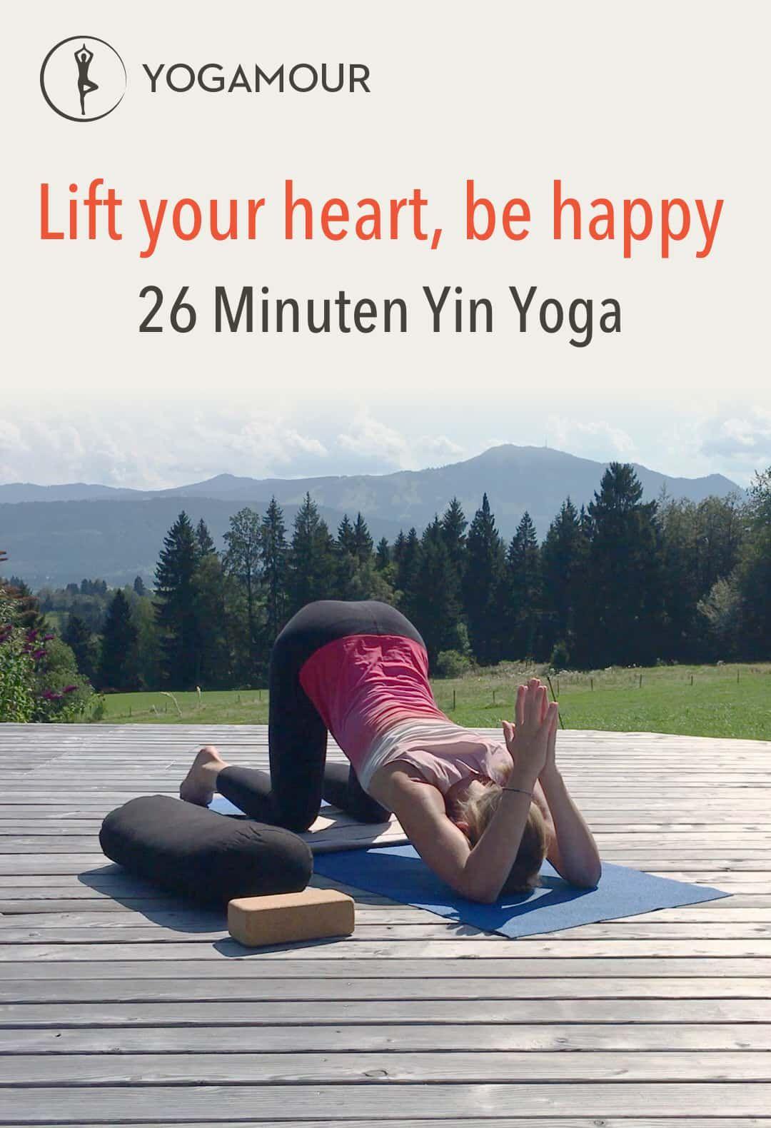 Faszien mit Yin Yoga bearbeiten, das Herz öffnen  bei Nackenschmerzen Verspannungen für  Nacken Schulter Rücken auf der Terrasse und im Garten #fitnessvideos