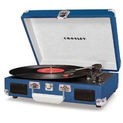 Tornamesa Cruiser Azul CROSLEY Tornamesa de vinilos para los amantes de la música.