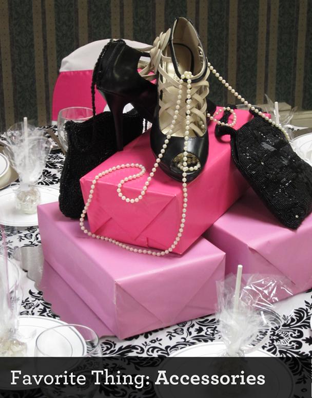 Shoes table centerpieces bridal shower theme favorite