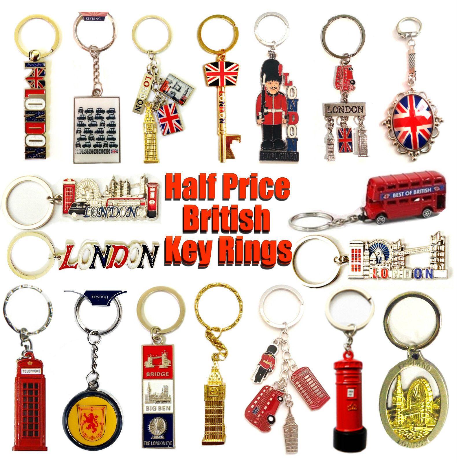 Union Jack England London Souvenirs Key rings Key Chains