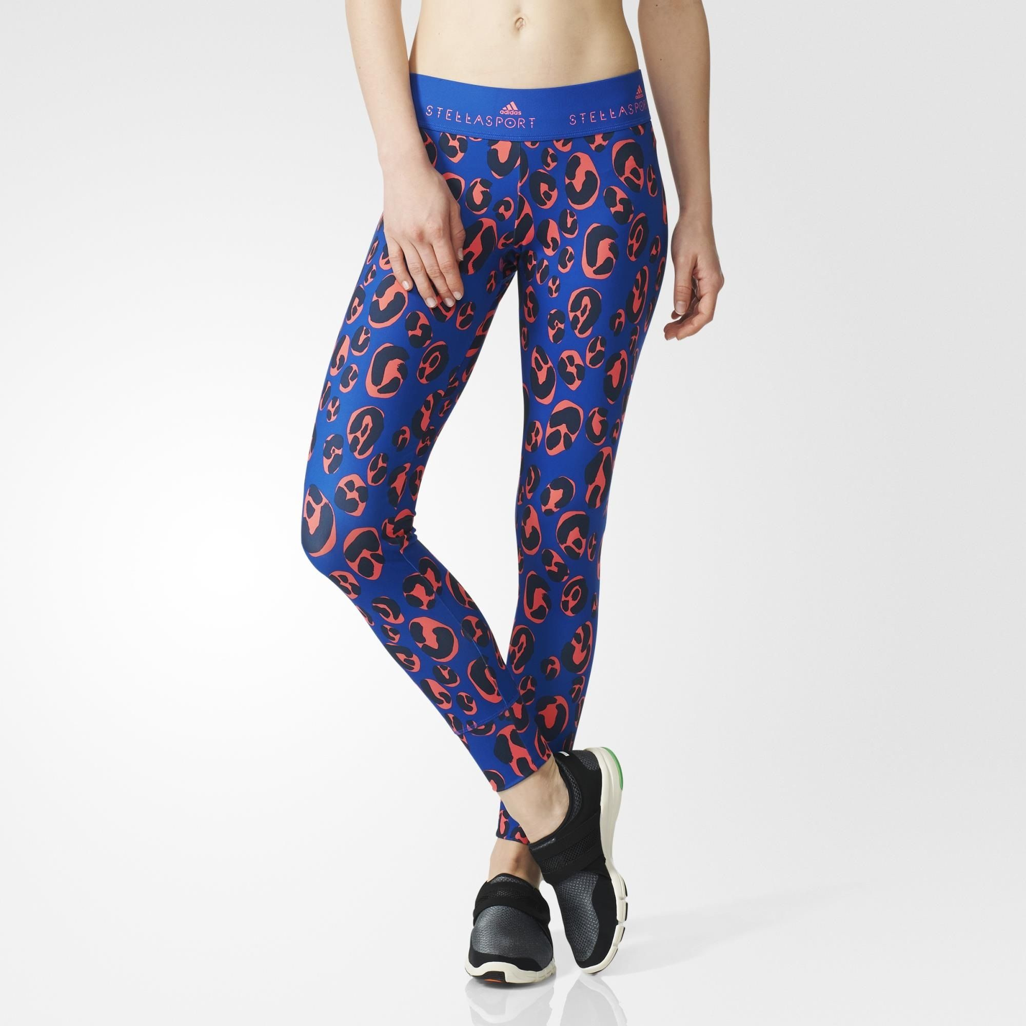 f95048ece3b Designed in collaboration with Stella McCartney, these women's adidas  STELLASPORT training tights display her signature flair for prints with an  allover ...