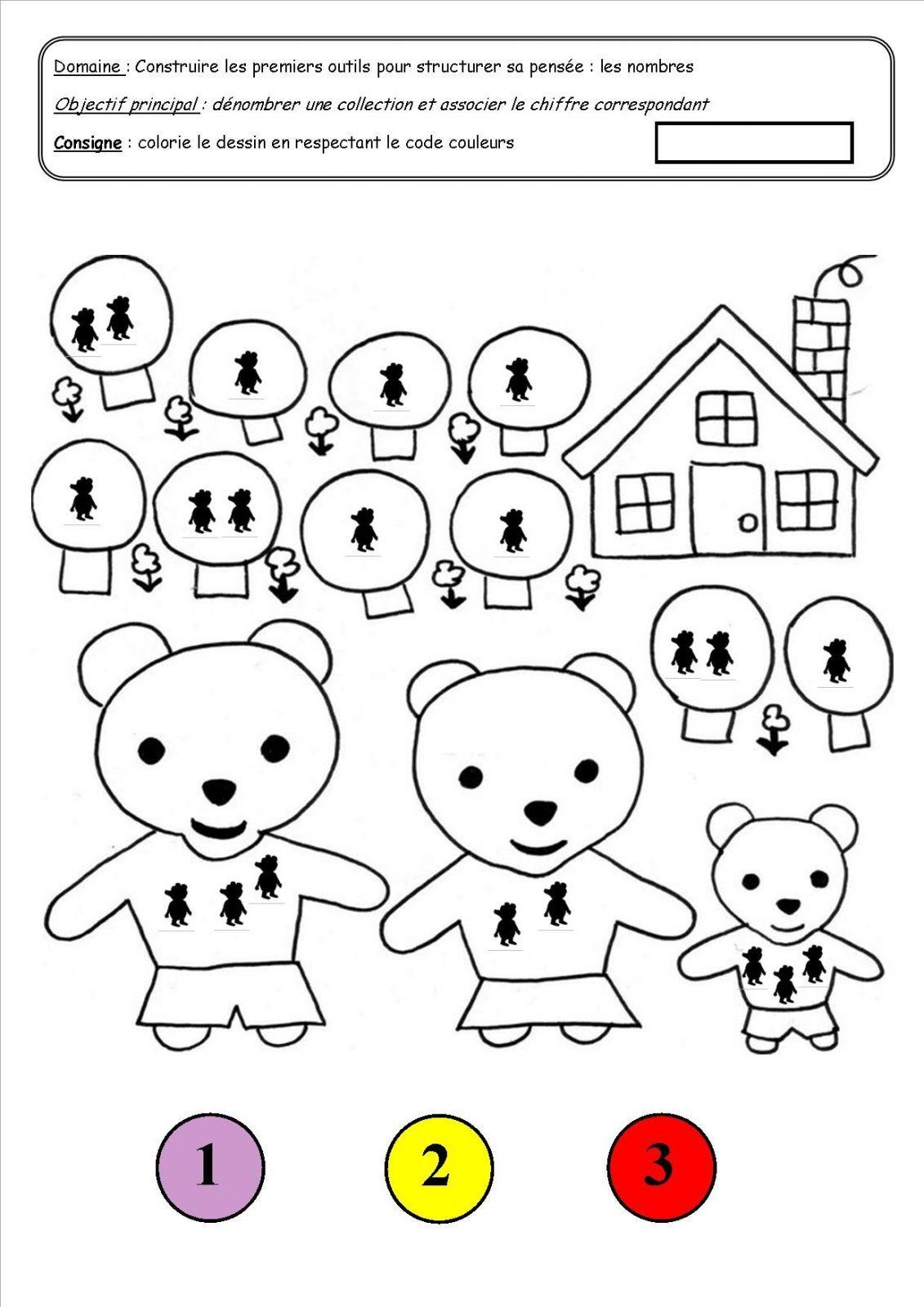 Boucle D'or Et Les Trois Ours Coloriage : boucle, trois, coloriage, Coloriage, Magique, Nursery, Rhymes,, Fairy, Tales,, Album
