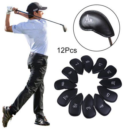 12pcs Pu Leather Golf Club Iron Putter Head Cover Protecting Set Golf Sports Accessories Fit Universal Irons Outdoor Go Used Golf Clubs Golf Sport Golf Putters