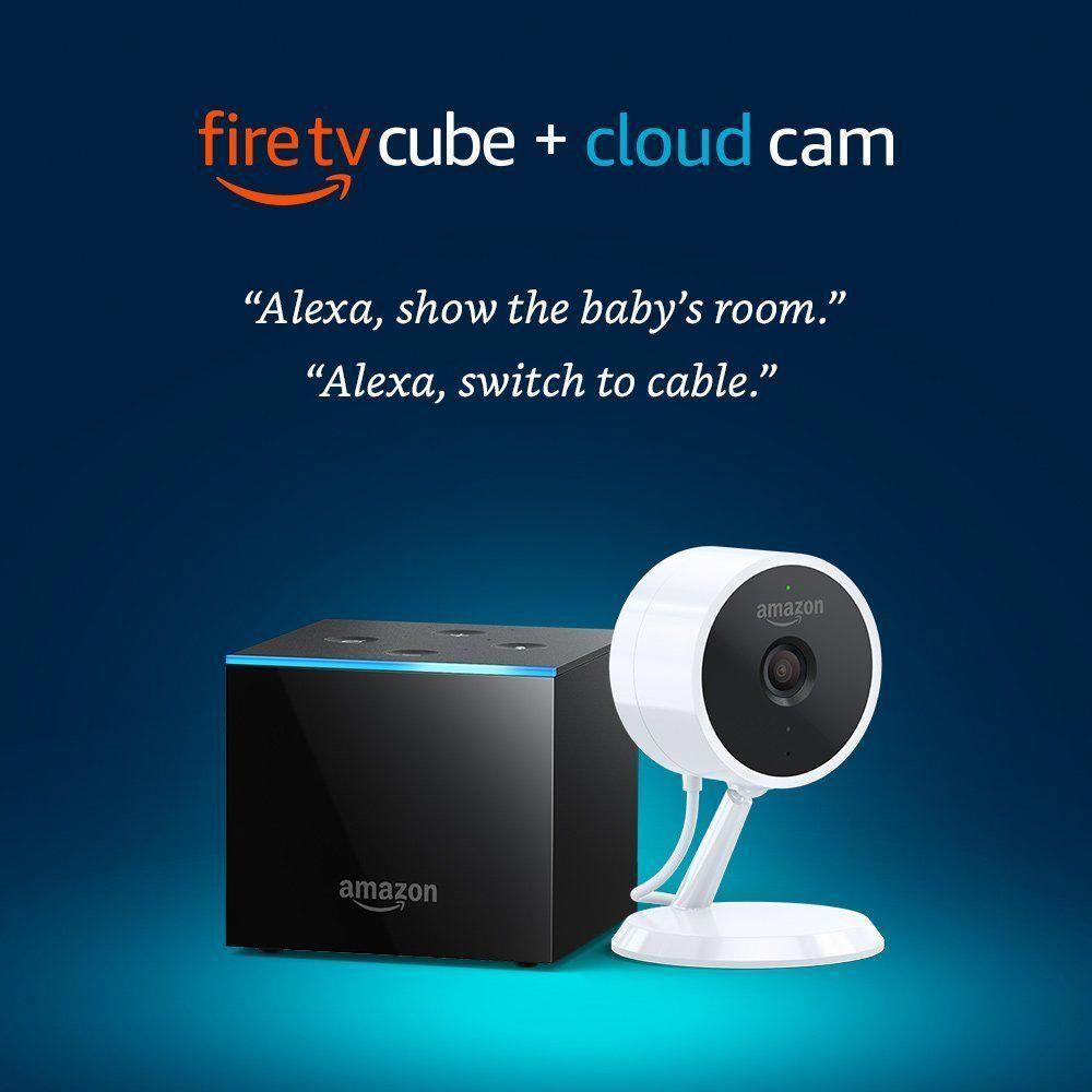 Fire TV Cube Cloud Cam Security Camera 199.98! fresh