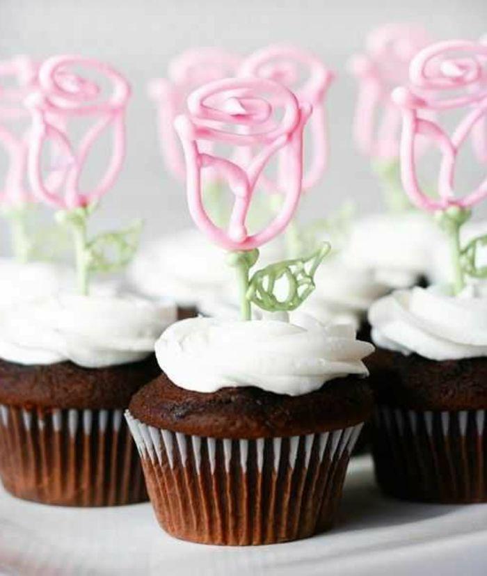 ▷ 1001+ Ideen und Anleitungen, wie Sie Cupcakes dekorieren #apfelrosenmuffins