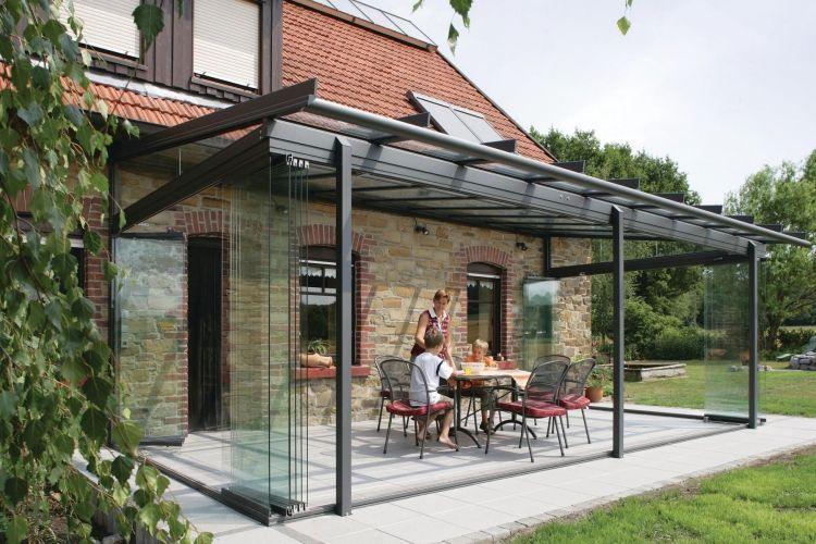 wintergarten modern gestalten pergola verglasung. Black Bedroom Furniture Sets. Home Design Ideas