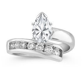 I adore pear cut engagement rings! This setting is so sophisticated and polished yet vintage at same time which totally fits my style! This is my dream ring! <3