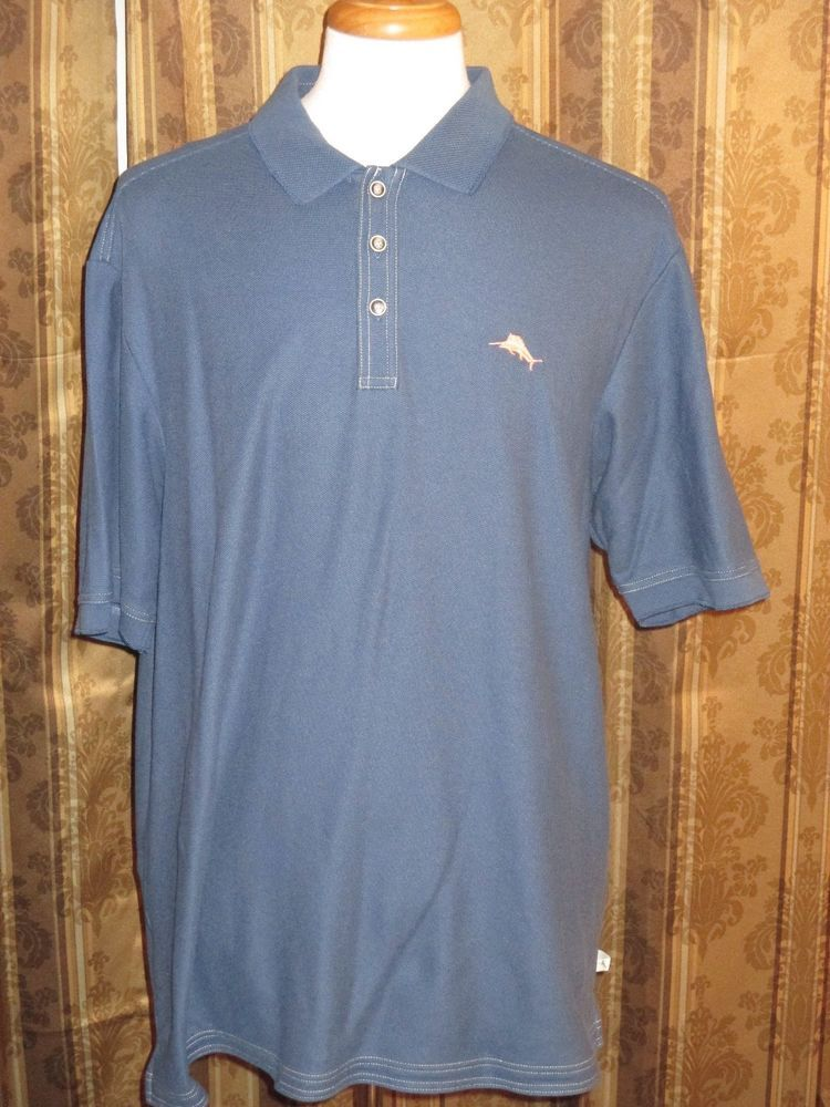 tommy bahama embroidered fish logo men 39 s textured blue