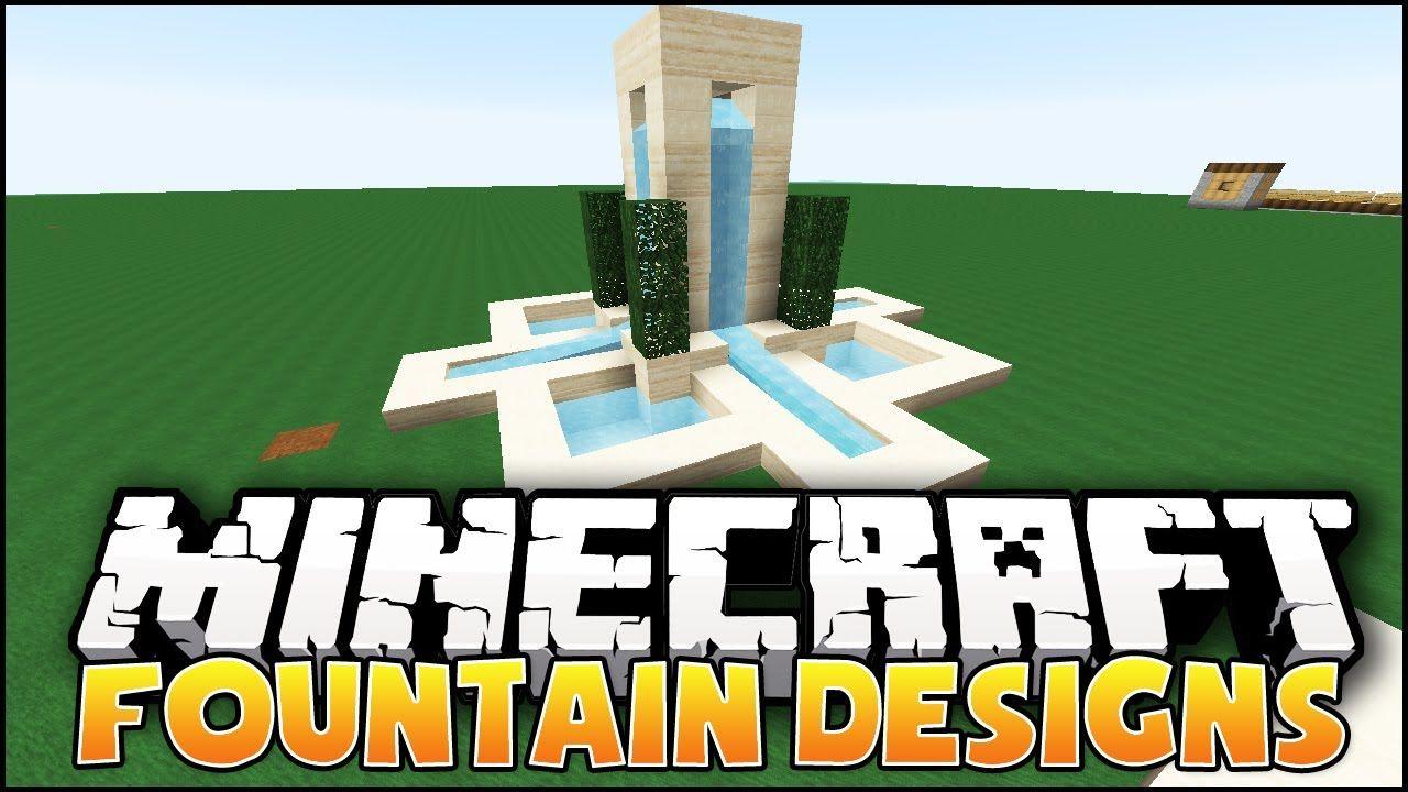 minecraft fountain designs ideas