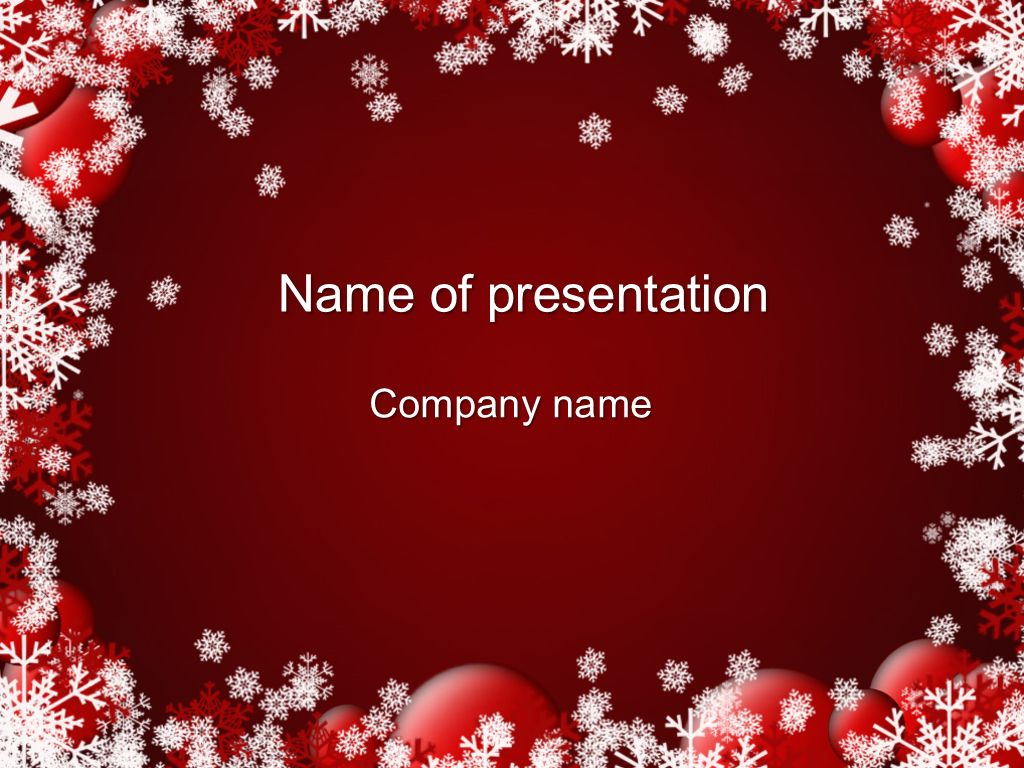 red winter powerpoint template and theme this beautiful and creative powerpoint theme will be a