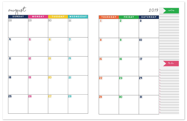 Printable Planner Calendar 2021 2020 2021 Monthly Calendar Planner | Free Printable Calendar