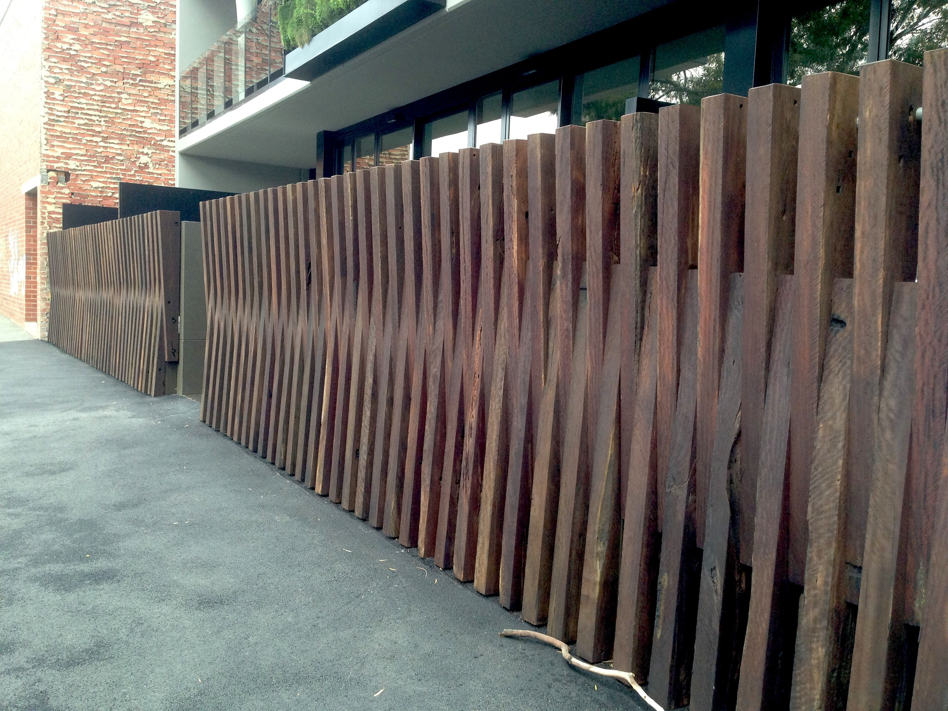Front Fence Melbourne Apartment Building Modern Fence