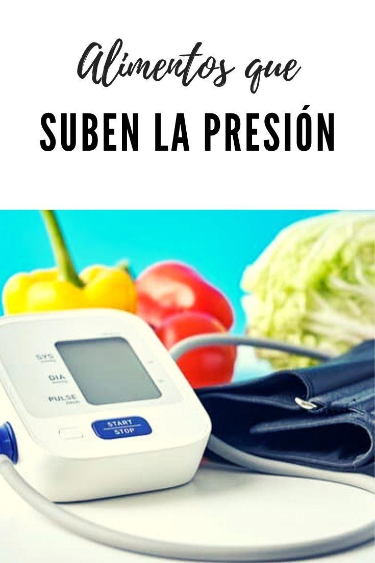 Alimentos que suben la presión arterial en 2020..
