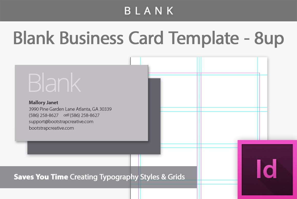 Blank Business Card Indesign Template  Design Bundles  Free