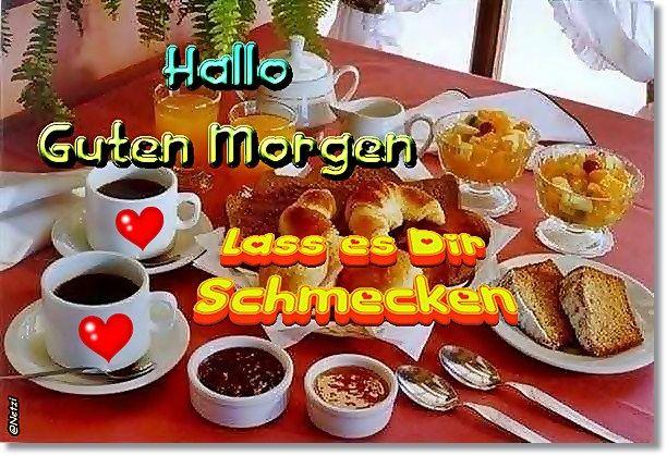 Guten Morgenfrühstück Morgen Frühstück Guten Morgen Und