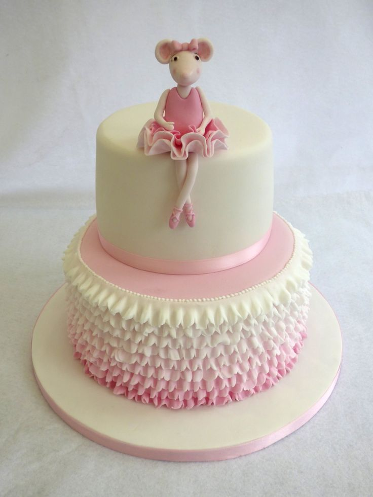 angelina ballerina 2 tier birthday cake sabine birthday party 3