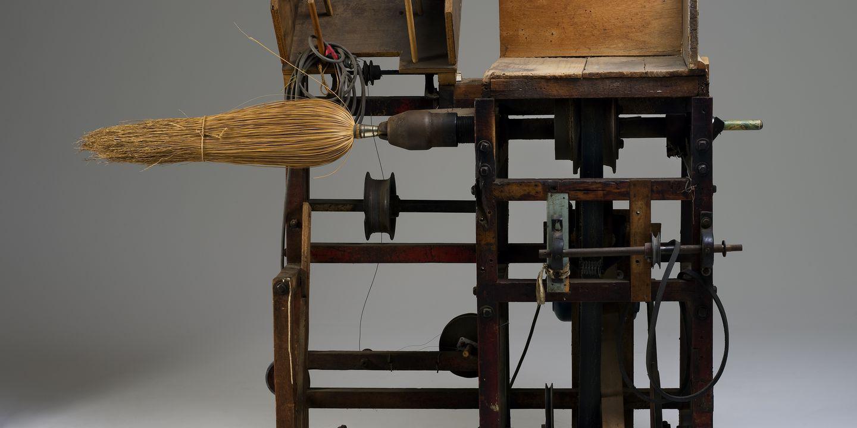 Antique Broom Corn Winding Machine, Broom Making Equipment, Antique