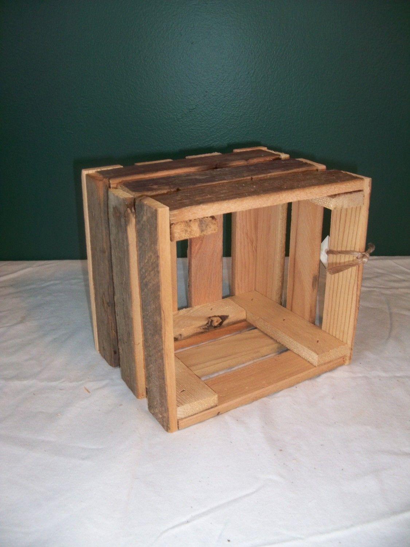 Barnwood Rustic Wooden crate storage wedding decoration K/&D CobbleShop