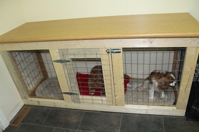 Diy Cabinet Style Dog Kennel Indoor Dog Kennel Diy Dog Kennel
