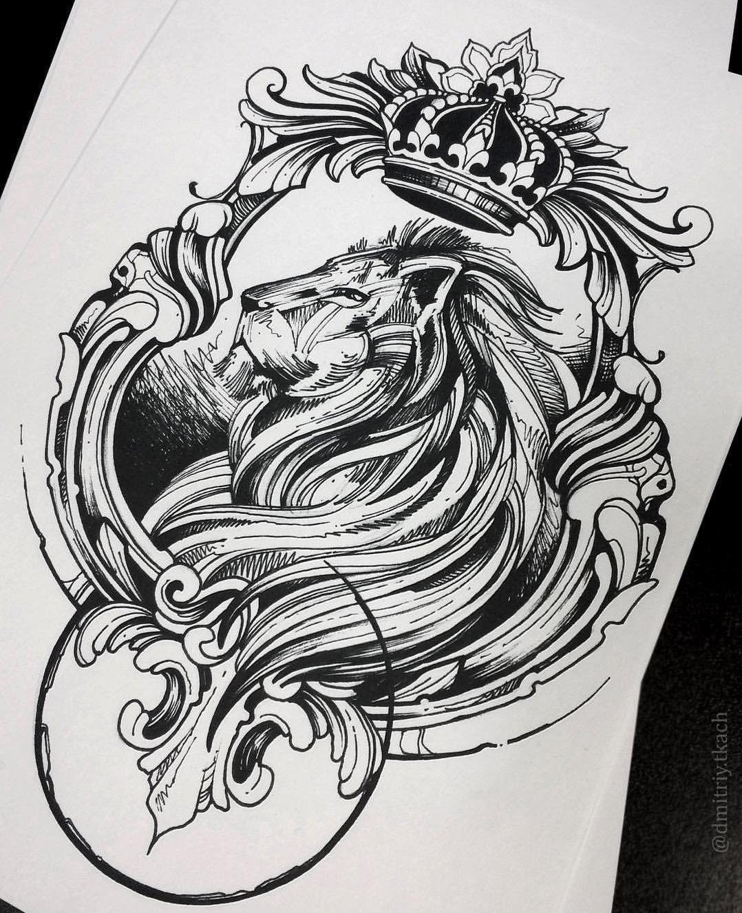 Pin De Fil Vova Em звірі ескізи Desenho Tatuagem Desenhos