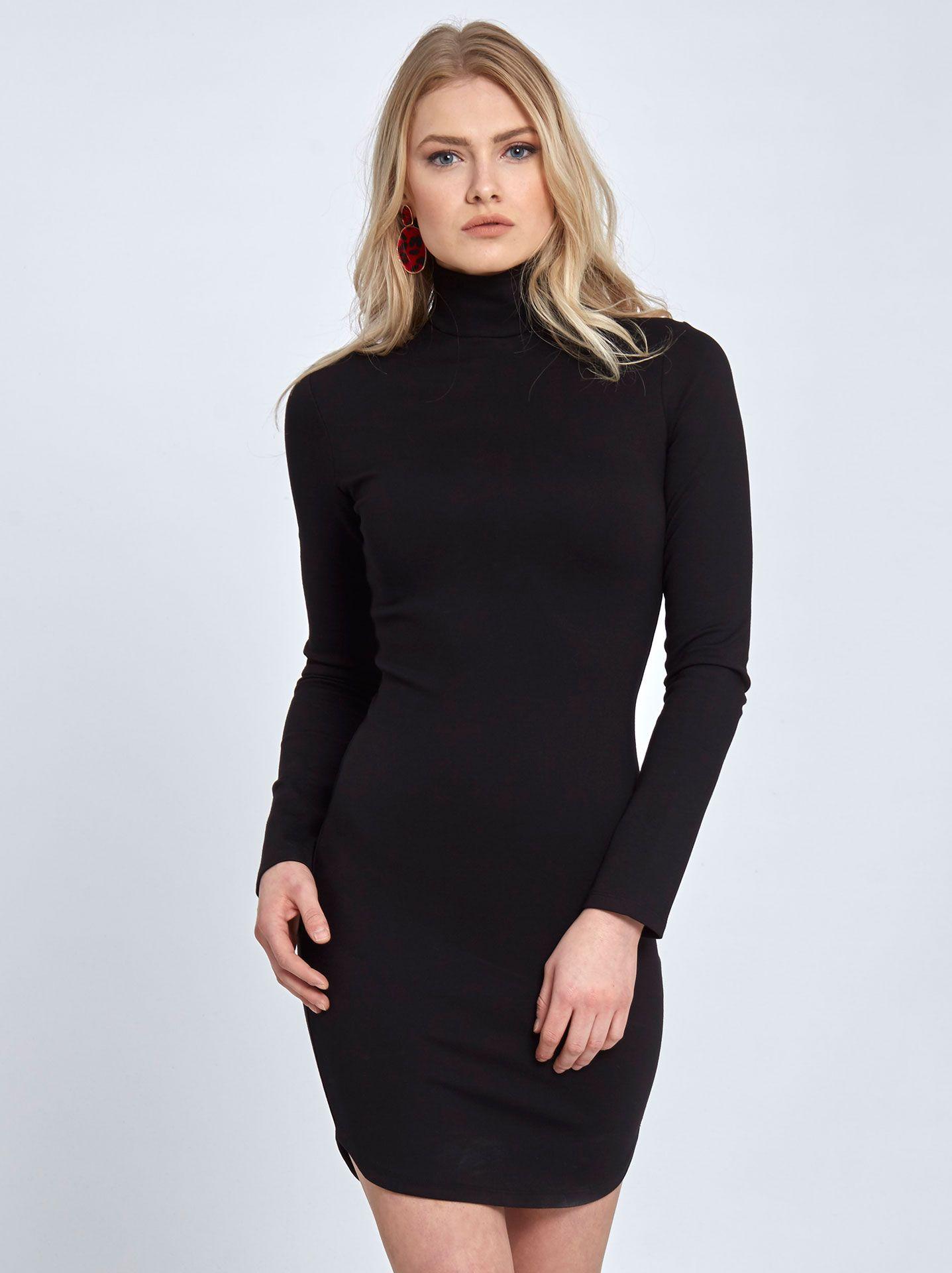bb90ced482d5 Μίνι ζιβάγκο μαύρο φόρεμα