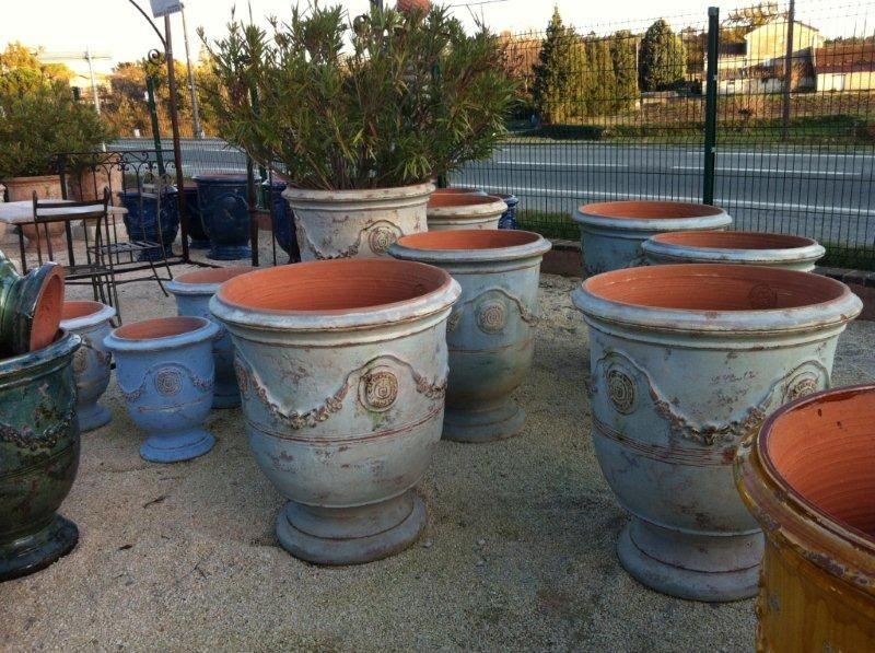 Perfect Blue Glazed French Pots/ LOVE These For Outdoor Kitchen