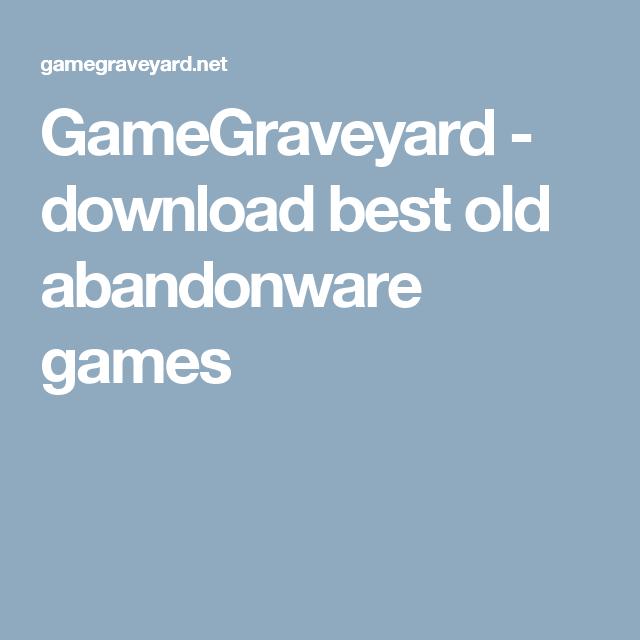 GameGraveyard - download best old abandonware games | Games