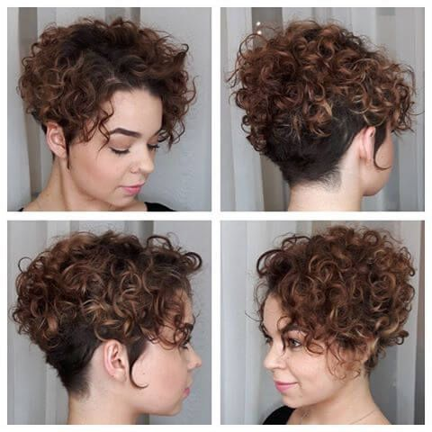 37 Cute Easy Hairstyles For Short Curly Hair Curly Hair Styles