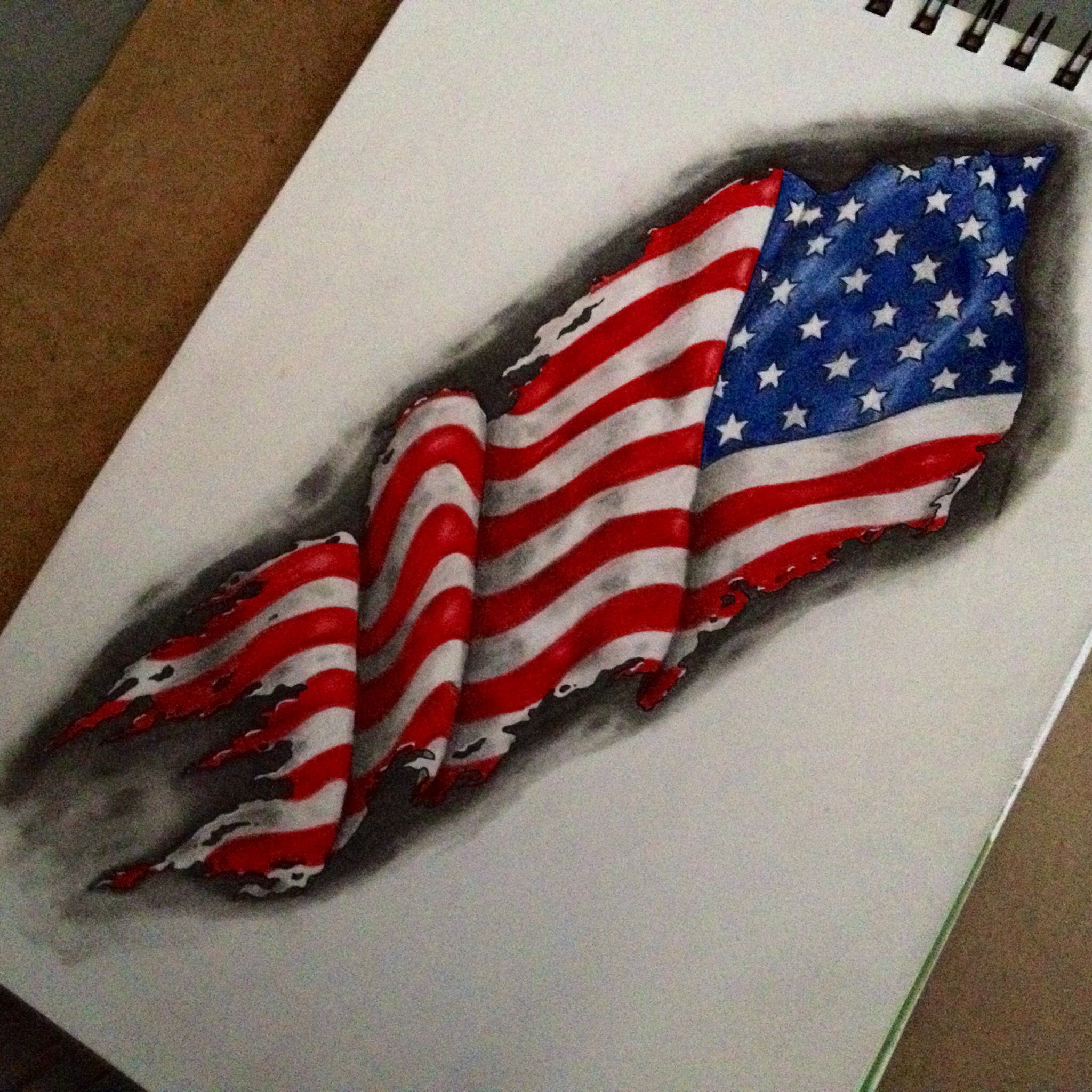 how to draw an american flag to scale