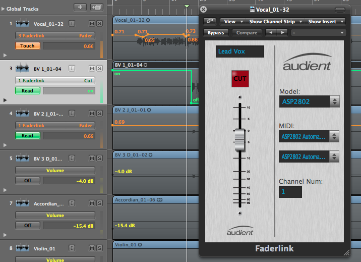 Faderlink Audient Desktop screenshot, Screenshots