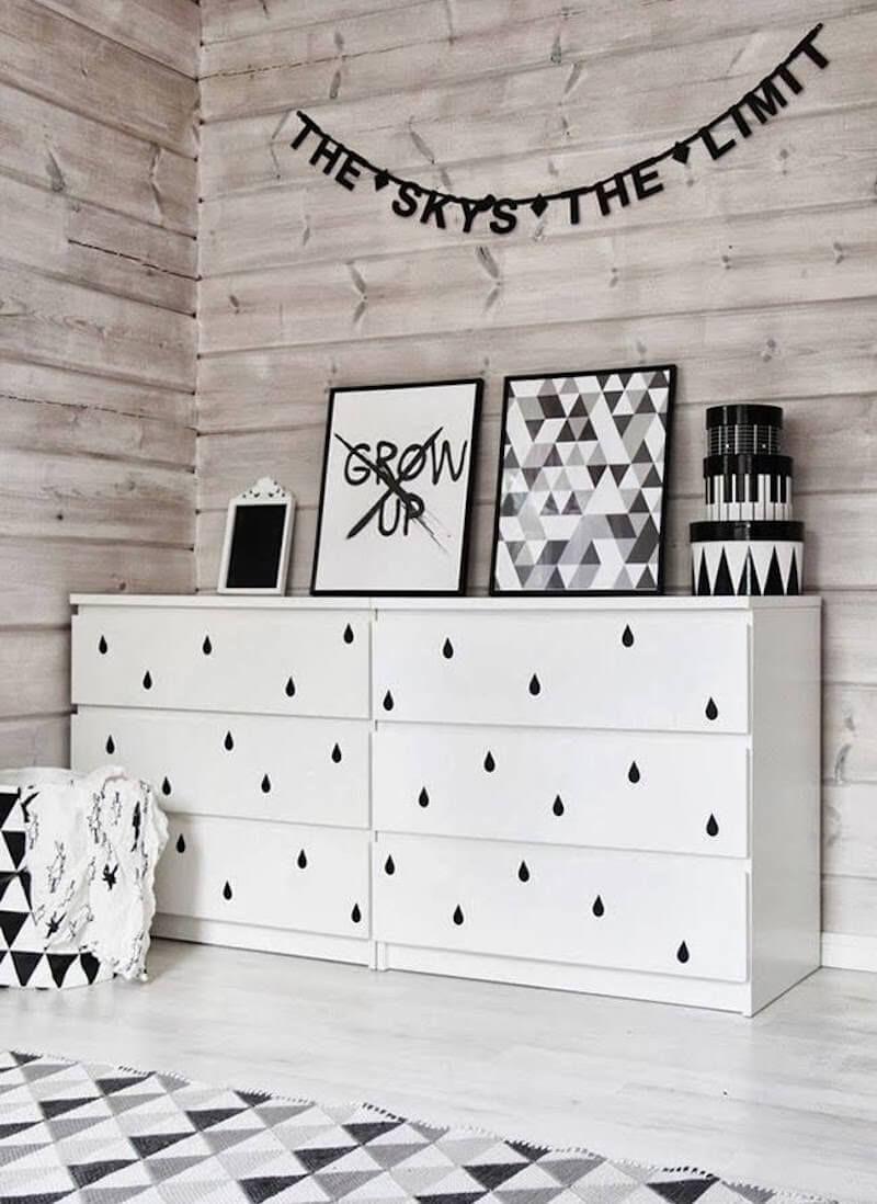 Decorar muebles de ikea con vinilo pintar muebles for Vinilos infantiles ikea