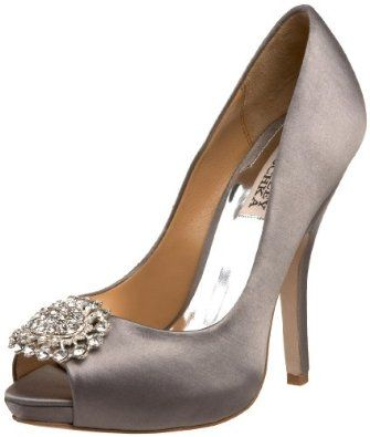 2d7196b3017c grey satin badgley mischkas. pretty Grey Wedding Shoes ...