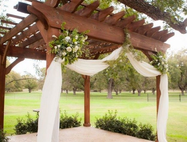 Pergola Wedding Decoration Ideas You Can Make The Look Magnificent And Amazing By Decorating It With Fresh Flowers Branches