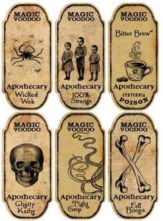 halloween drink labels free