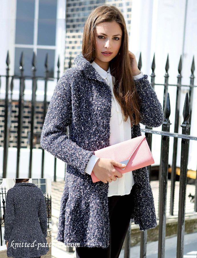 Ladies Jacket Knitting Pattern Free | Tejido dos agujas | Pinterest ...