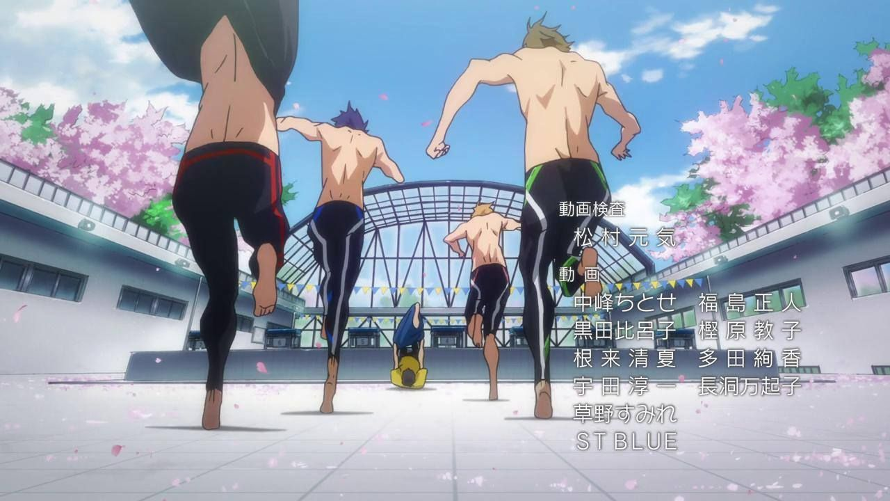 Rin, Rei, Nagisa, Makoto and Haruka - ED