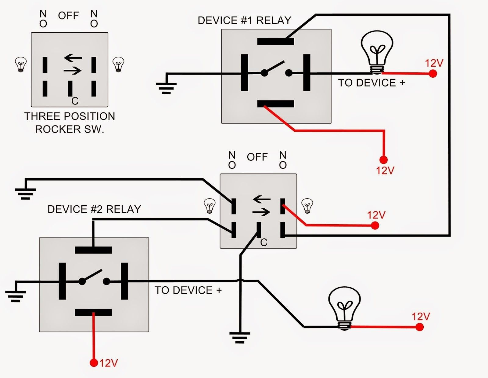 New Wiring Diagram for 40 Amp Relay #diagram #