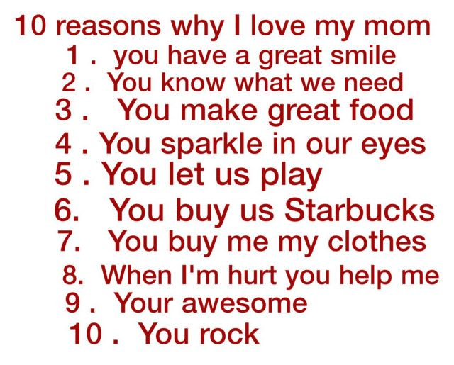 10 Reasons Why I Love My Mom By Catbusters 1 Liked On Polyvore
