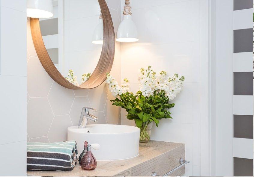 Dlaczego Warto Trzymac Rosliny W Lazience Ih Internity Home Bathroom Inspiration Round Mirror Bathroom Bathroom Mirror