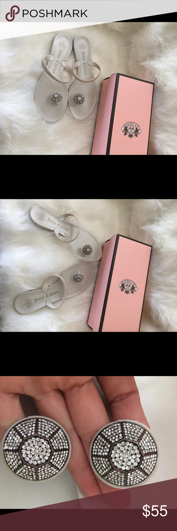 6ab9f9f6dd51 Juicy couture sandals size 8 Jeweled toe ring jelly sandals that will add a  touch of sparkle to your next beach ensemble comes with the box Juicy  Couture ...