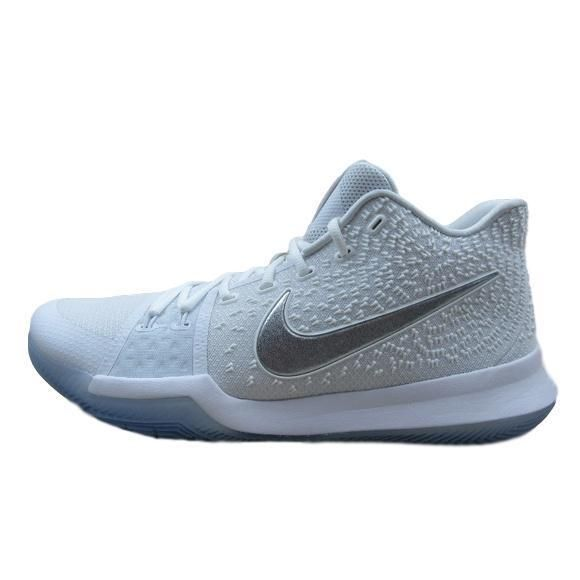4f81f64cec7 Nike Kyrie 3 Size 14 Basketball Shoes Mens White Chrome 852395 103 New  Nike   BasketballShoes