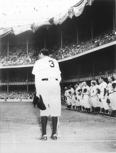 1947 BABE RUTH NEW YORK YANKEE BASEBALL FAREWELL SPEECH
